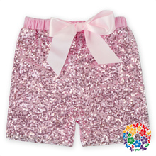 2016 Hot Sale Pink Baby Sequin Diaper Shorts Baby Cotton Shorts With Bow Boutique Teen Girl Shorts On Sale