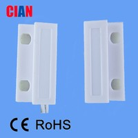 Wire Surface Mounted Magnetic Door Window Sensor/Contact with Normally Closed (N.C.) Output