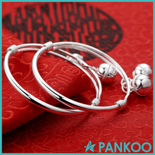 990 sterling silver bell bangle for baby