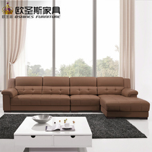 latest sofa designs 2016 sectional corner l shape modern euro design nova leather sofa OCS-K009