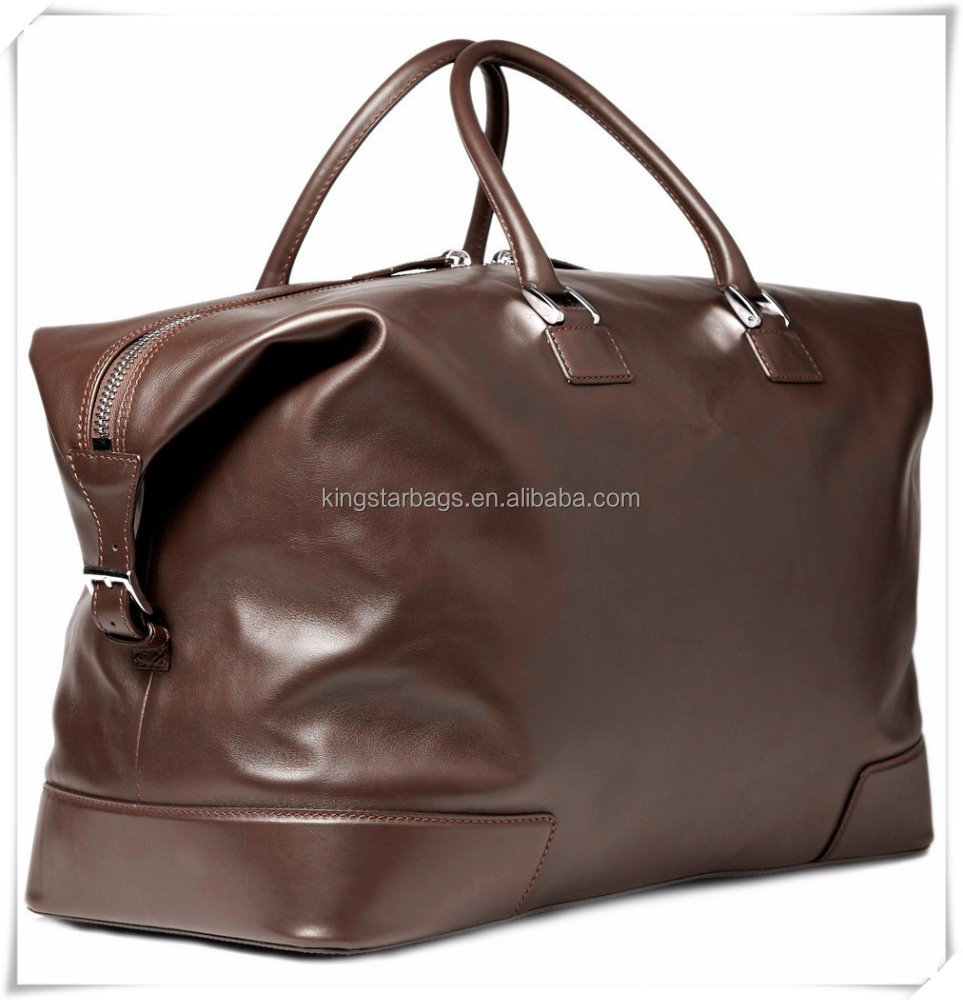 Handmade Full grain/top leather Tote bag with handle for men with very nice zipper