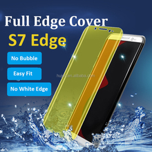 0.15mm thickness 3D curved full screen protector for samsung galaxy s7 edge s8 s8+ plus soft tpu screen protector
