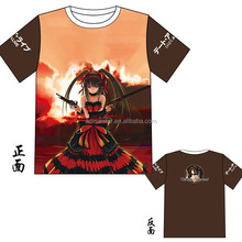 Cartoon Short Sleeve Japanese Date A Live Tokisaki Kurumi Modal Printed Anime T-shirt M L XL XXL