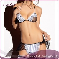 Sexy Lingerie hot Sheer Naughty Muslin Maid Uniform Temptation sexy underwear Outfit erotic lingerie
