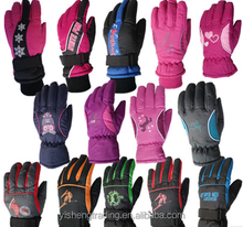 cheap wholesale thinsulate ski gloves set Men's Waterproof Neoprene Winter Outdoor Ski Gloves
