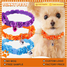 Classic Dog Bell Necklace Colorful Lace Nylon Pet Collar