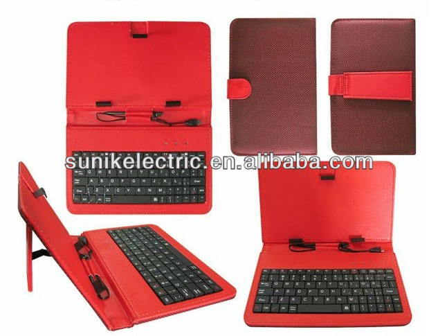 Tablet Android Case And Keyboard stand leather case for 7'' andorid