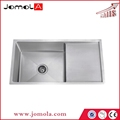 Single bowl with drain board handmade kitchen sink JSBH-9048