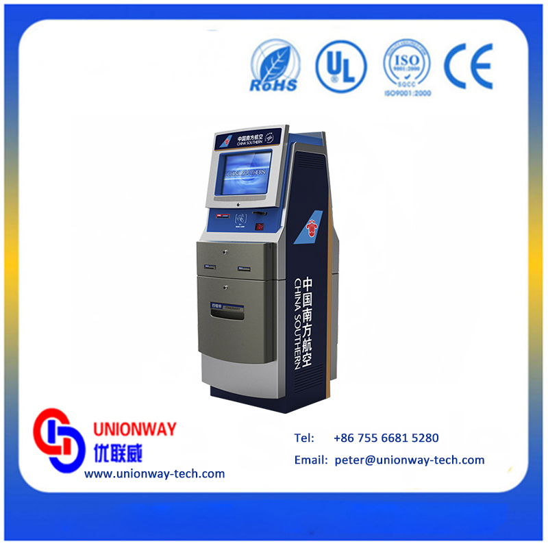 Customized self service ticket vending payment kiosk for airport