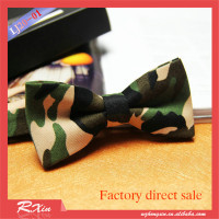 cotton Camouflage bow tie Men's printed tie