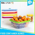 Non-toxic silicone material hot-sale travel food containers