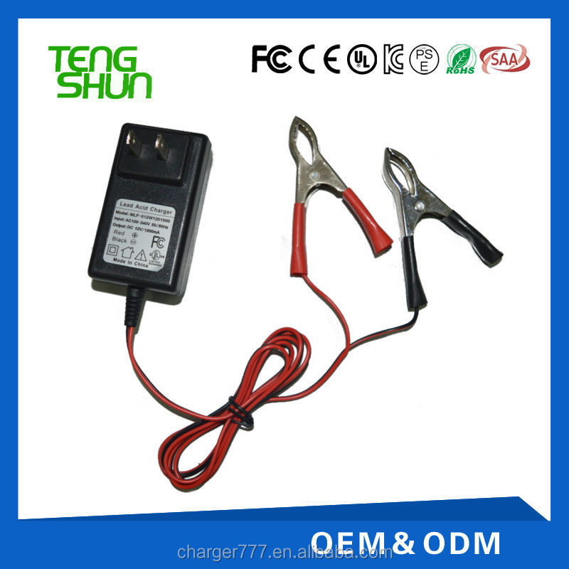 12v 1a electric motorcycle battery charger