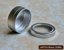 round flat aluminum can with clear lid,beautiful aluminum can shaving soap container