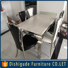 Royal chairs for wedding high bcak stainless steel frame made in china