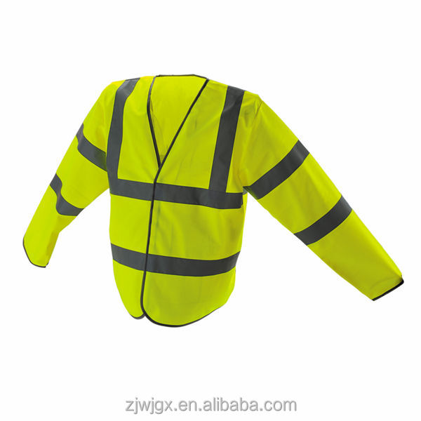 Hi-vis Reflective Long Sleeves Working Safety Vest, Conforms to EN471/ISO 20471