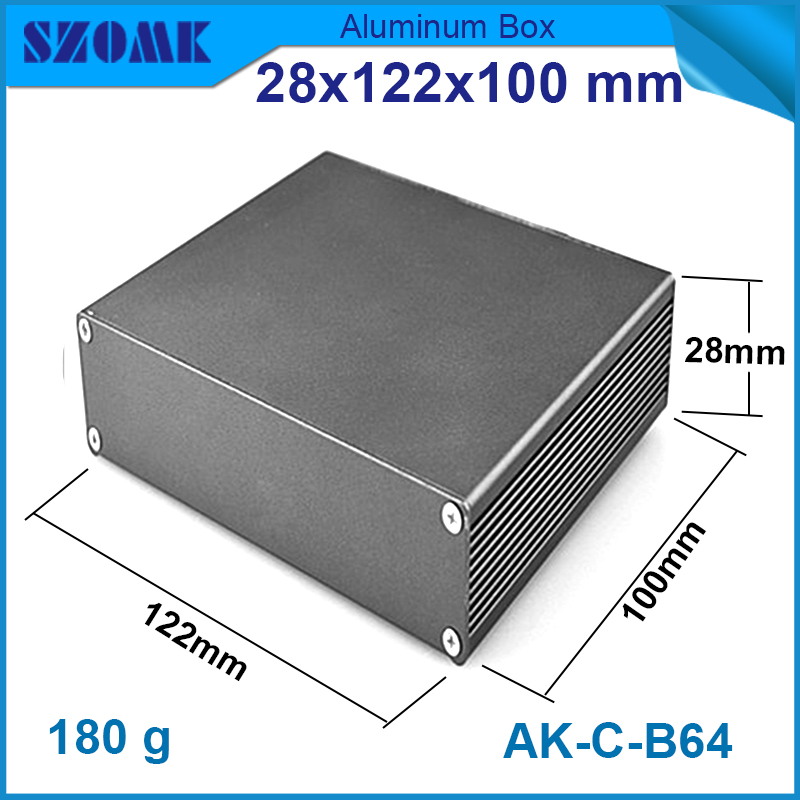 Black color electricity save smart aluminum tv szomk box rack enclosure or used inject mold case