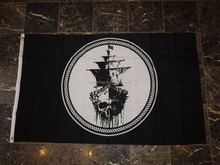 Jolly Roger Pirate Black Sea Ghost Ship Black Pearl Flag 3*5