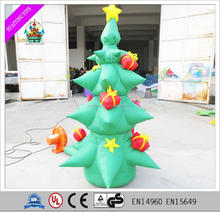 PVC inflatable mini christmas tree Adorable giant inflatable tree gift christmas decoration 2017