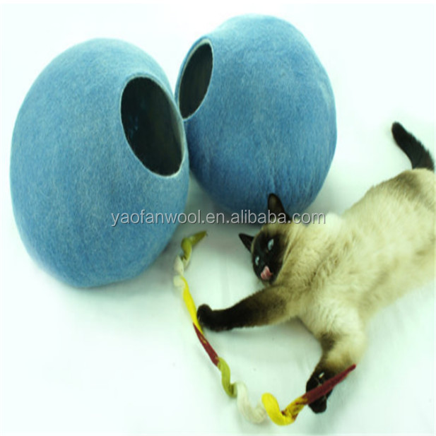 Best selling products wool felt cat cave felt pet bed dog bed