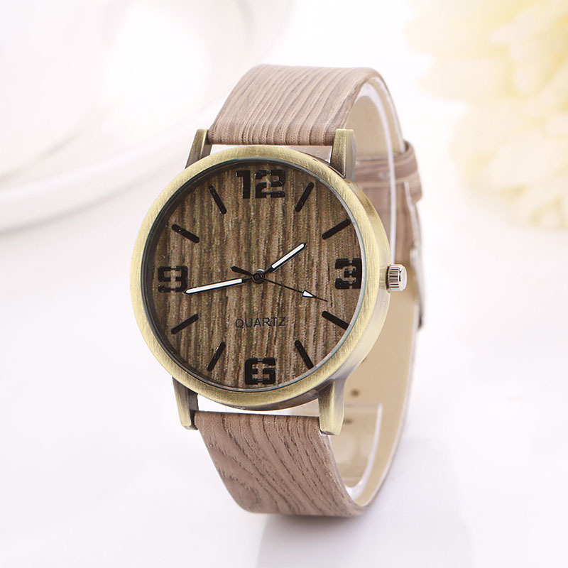 Big Discount Factory Supply wood look wrist watch made in China
