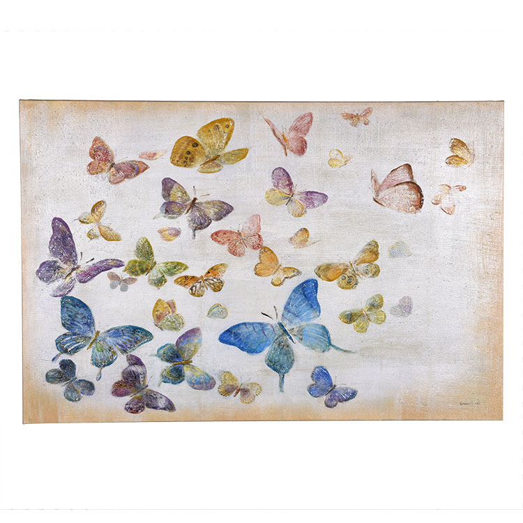 TAOYE Hand Painted Animal Butterfly Home Goods Oil Painting For Living Room