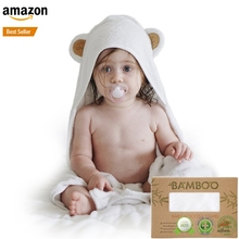 wholesale 100% bamboo soft baby animal hooded bath towel
