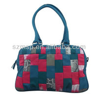 Fashion Trendy Colorful Ladies PU leather Handbag, REACH EU & US test standard