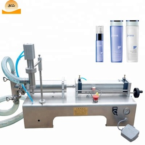 Pneumatic jam filling machine 2 heads / water filling machine