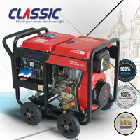 CLASSIC CHINA 186f 7.5KW Generator Price, Air-cooled Single-cylinder Diesel Engine 10HP Portable Suit Generator