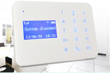 2016 cheap price touch LCD screen wireless home GSM alarm system PY-TGSM11