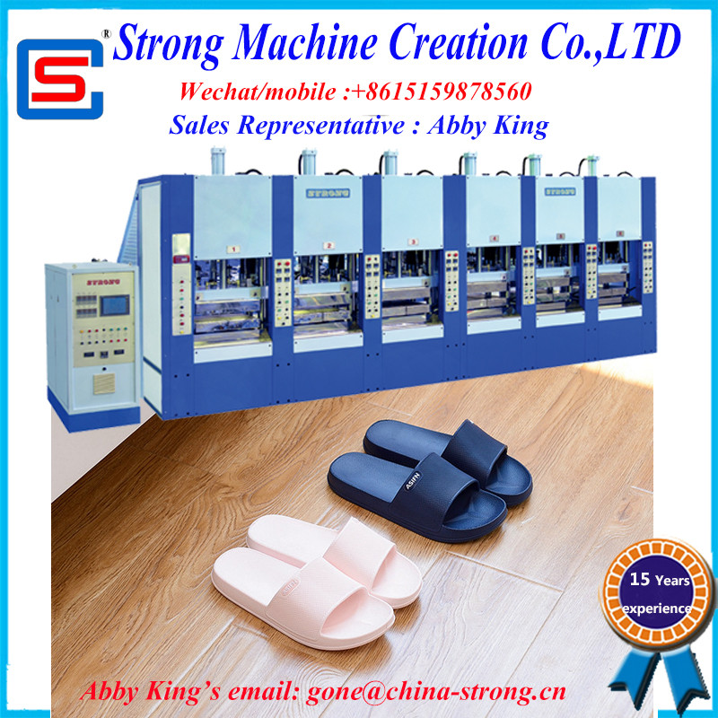 STRONG SINGLE COLOR EVA INJECTION SHOE SLIPPER SPORT MIDSOLE MOULDING MACHINE