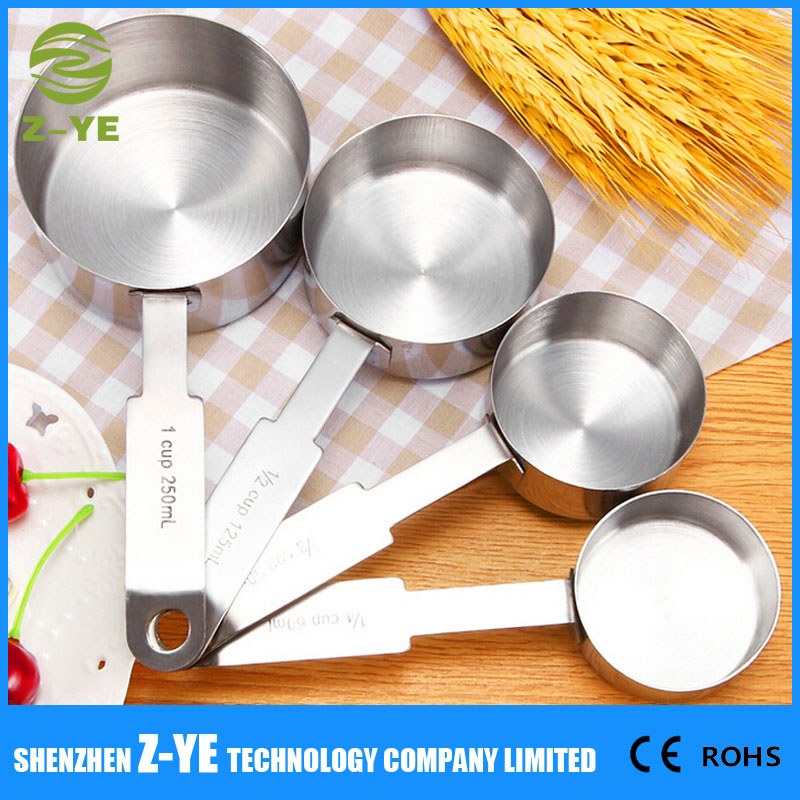 Stainless Steel 4pcs Measuring Cups