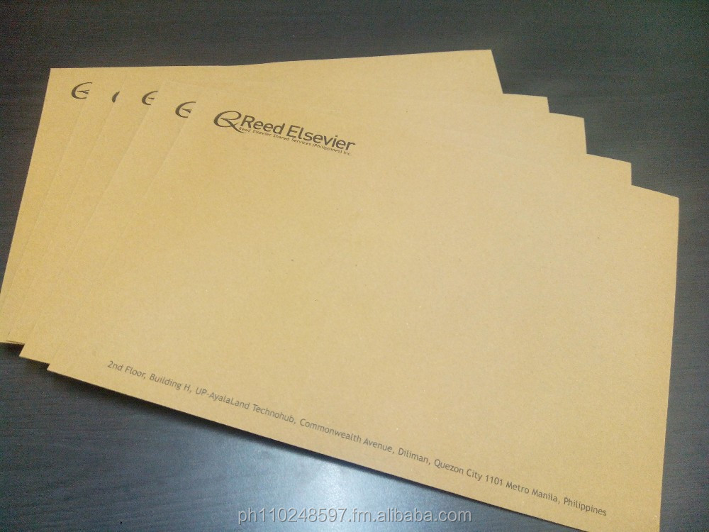 Quality Customized Letter Envelope or Document Envelope Printing