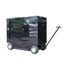 Multifunctional Shiny Gloss Black Color Pit Wagons Rolling Metal Tool Box Trolley for sale