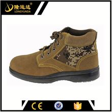 CE black motorcycle racing boots industrial safety shoes lace-up safety shoes buffalo leather safety shoes