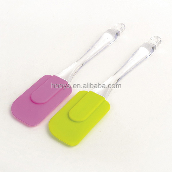 25cm food grade plastic handle silicon baking spatula