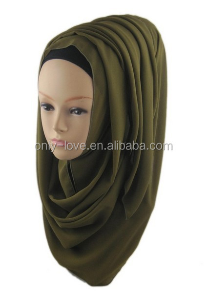 high quality Big Large Solid Color women shawl hijab new designs plain chiffon scarf hijab,can choose colors QK010