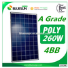 BlueSun high efficiency poly pv solar panel good price 260 watt 500 watt solar panel
