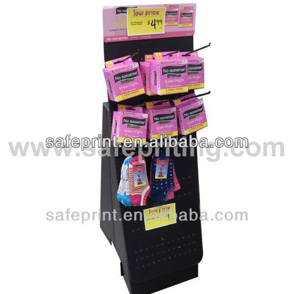 cardboard hanging hook Plastic counter display