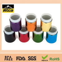 8oz/250ml Chromed/ Metallized Plastic HDPE pill Bottle blue purple yellow orange black
