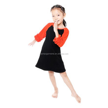 Wholesale Boutique Kids Clothing Baby Raglan Frocks Designs Children Halloween Dresses