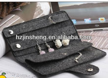 Best quality nice hot sale fashion felt jewelry wallets