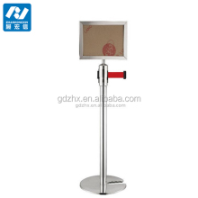 sign board/queue barrier/stanchion/crowd controls with a3 sign holder