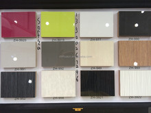 ZH brand high quality UV MDF with solid color
