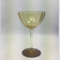 hand made engraved cylinder champagne glasses