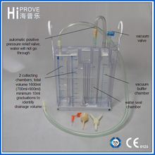 Disposable Surgical Chest Drainage Bottle with 3 kinds of connectors