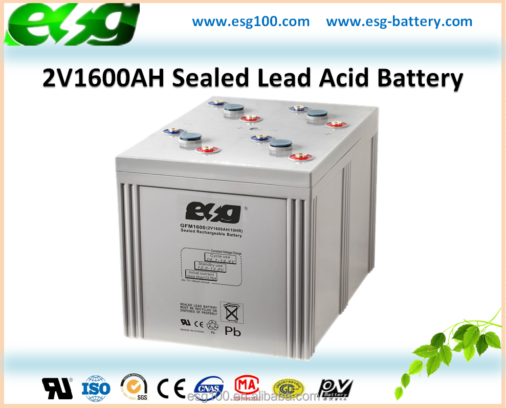 2V1600AH Off-grid Solar System High Capacity Rechargeable Storage Battery