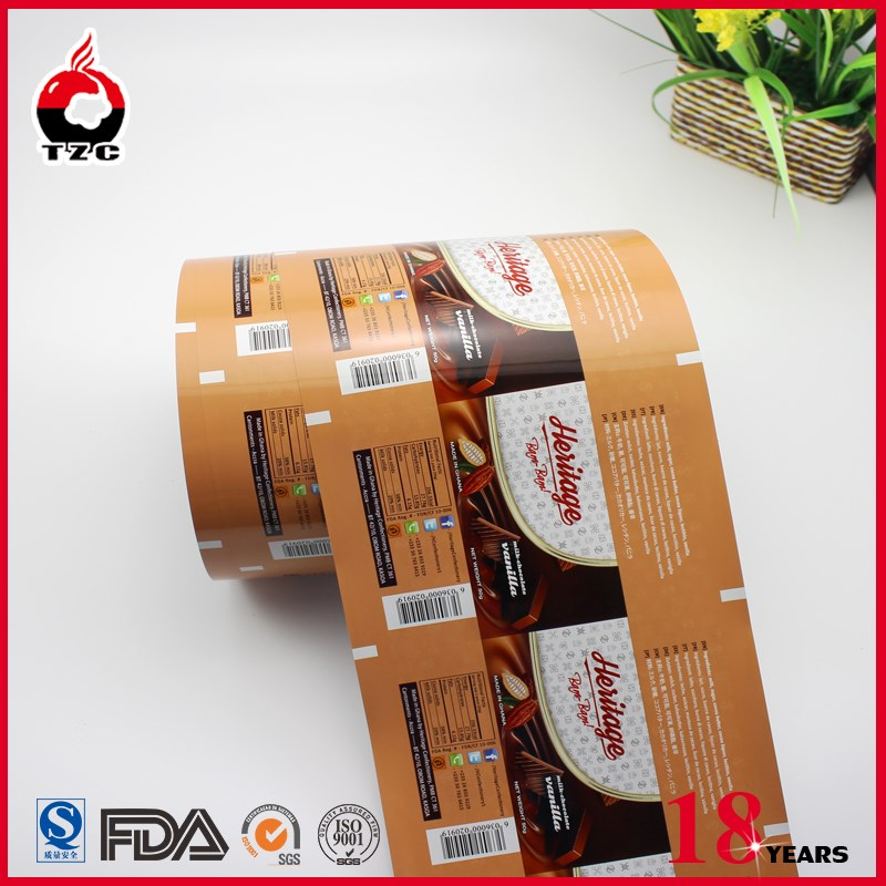 aluminum foil laminated roll film for chocolate bar packaging film