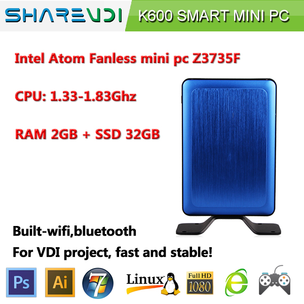 SHAREVDI cost-effective Intel Atom baytrail zero PC for VDI/CITRIX/VMWARE solution
