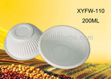 Biodegradable disposable plastic salad bowl: XYFW-110